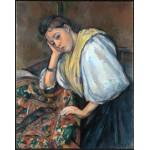 Joven italiana en la mesa, Cezanne, Algomasquearte