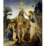 Bautismo de Cristo, Da Vinci, Algomasquearte