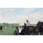 En las carreras en Countryside, Degas, Algomasquearte