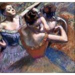 Bailarinas tras el escenario, Degas, Algomasquearte