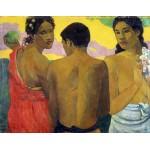 Tres Tahitianos. Gauguin, Algomasquearte