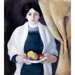 Retrato con manzanas, Macke, Algomasquearte