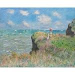 Paseo por el acantilado, Monet, Algomasquearte