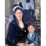 Madame Boursier con su hija, Morisot, Algomasquearte