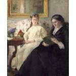 Retrato de Mme Morisot y su hija, Morisot, Algomasquearte