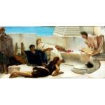 Una lectura de Homero, Alma Tadema, algomasquearte