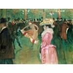 Toulouse-Lautrec Baile en el Moulin Rouge Algomasquearte