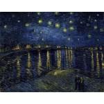 Van Gogh Noche estrellada sobre el Rodano Algomasquearte