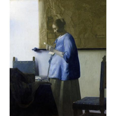 Vermeer Mujer leyendo Algomasquearte