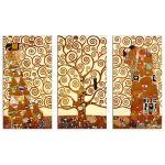 El árbol de la Vida, Klimt, VERSIÓN TRIPTICO, Algomasquearte
