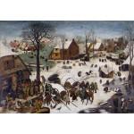 Censo en Belen, Brueghel, Algomasquearte