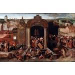 Cristo expulsando a los comerciantes del templo, Brueghel, Algomasquearte