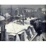 Nieve en los tejados, Caillebotte, Algomasquearte