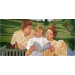 Grupo familiar leyendo, Cassatt, Algomasquearte