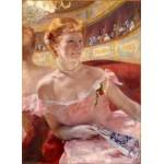 Mujer con collar de perlas, Cassatt, Algomasquearte