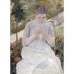 Chica en el jardín, Cassatt, Algomasquearte