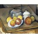 Jarrón, Azucar y manzanas, Cezanne