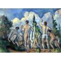 Los bañistas, Cezanne