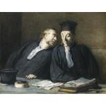 Dos abogados, Daumier, Algomasquearte