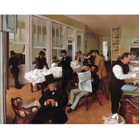 Oficina de algodón, Degas, Algomasquearte