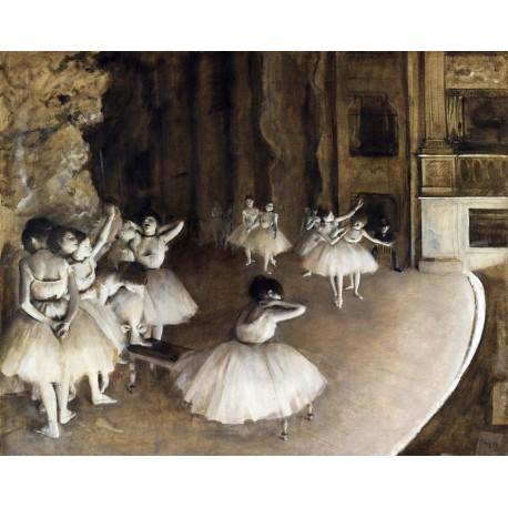 Ensayo del Ballet, Degas, Algomasquearte