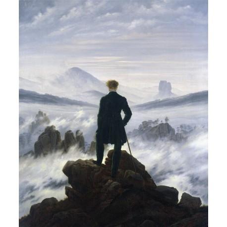Viajero frente a un mar de nubes, Friedrich, Algomasquearte