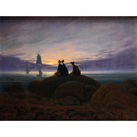 Salida de la luna sobre el mar, Friedrich, Algomasquearte