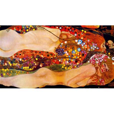 Serpientes de agua, Klimt, Algomasquearte
