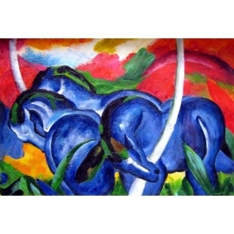 Grandes caballos azules, Marc, Algomasquearte