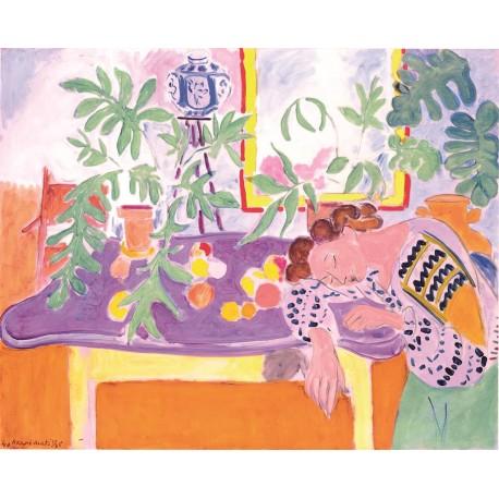 Naturaleza muerta con mujer, Matisse, Algomasquearte