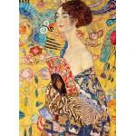 Mujer con abanico, Klimt, Algomasquearte