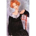 Mujer de pelo rojo, Modigliani