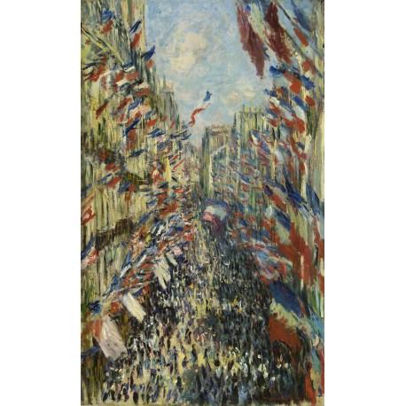 Calle Montorgueil en Paris, Monet, Algomasquearte