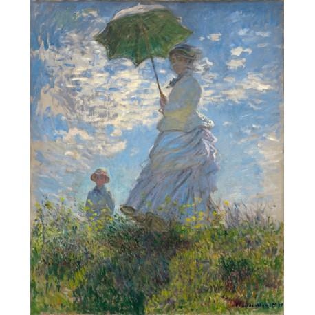 Mujer con parasol, Monet, Algomasquearte