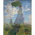 Mujer con parasol, Monet