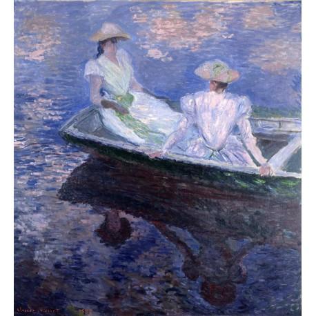 Jovenes damas en una barca, Monet, Algomasquearte