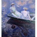 Jovenes damas en una barca, Monet