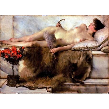 En el Tepidarium, Alma-Tadema, algomasquearte