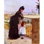 Mujer e hija en el balcon, Morisot, Algomasquearte