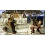 Sappho-y-Alcaeus, Alma-Tadema, algomasquearte