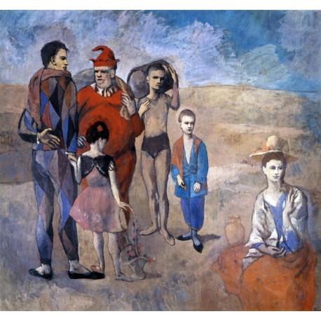 Picasso-familia-saltimbanquis-Algomasquearte