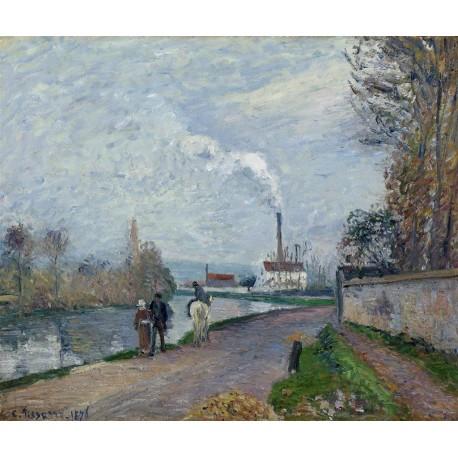 Pissarro La rivera cerca de Pontoise con tiempo nublado Algomasquearte
