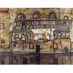 Schiele Casa pared en el rio Algomasquearte