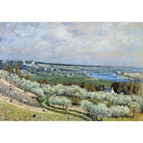 Sisley Las riveras de Saint Germain, Primavera Algomasquearte