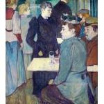 Toulouse-Lautrec En una esquina del Moulin de la Galette Algomasquearte