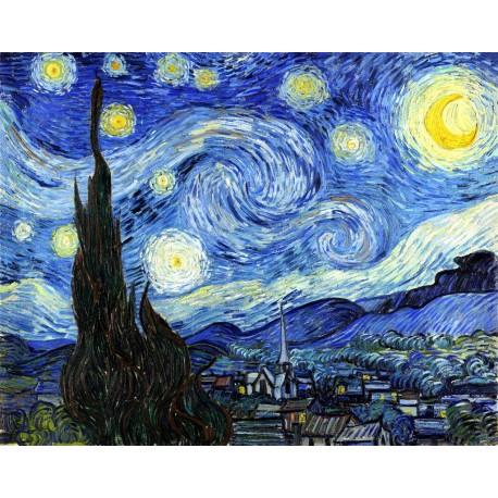 Van Gogh Noche estrellada Algomasquearte