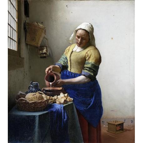Vermeer La lechera Algomasquearte