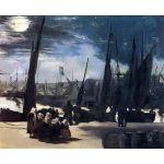 Luz de luna sobre el puerto de Boulogne, Manet, Algomasquearte