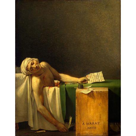 La muerte de Marat, David, Algomasquearte