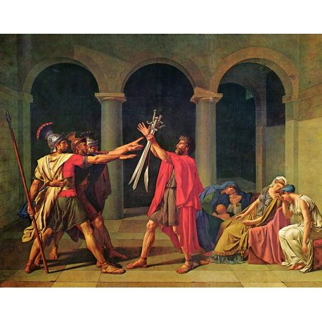 Juramento de los Horacios, David, Algomasquearte